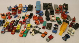 Selection of die-cast vehicles including Corgi, Solido & Lesney