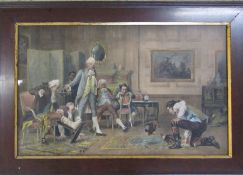 Framed Victorian print 'The Ruling Passion' by Laslett John Pott (1837-1898) 89 cm x 61 cm (size