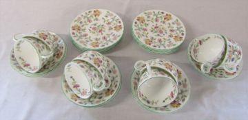 Minton 'Haddon Hall' pattern part tea service (24 pieces)