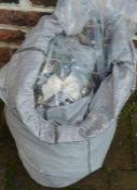 Large grey sack of costume jewellery