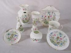 Assorted Aynsley 'Wild Tudor' pattern ceramics