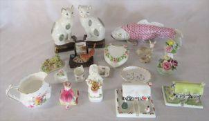 Various ceramics inc Royal Worcester, Spode, Coalport, Royal Crown Derby etc
