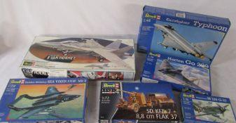 Selection of Revell model kits inc Eurofighter Typhoon, F-18A Hornet & Hawker Siddeley Sea vixen