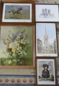 Assorted prints inc Stamford and The Best Horse in the World Epinard by Lionel Edwards