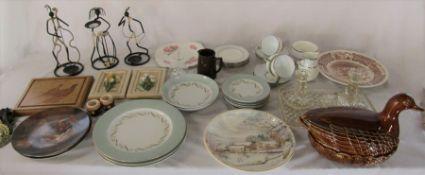 Various ceramics inc Portmeirion and Wedgwood and glassware etc
