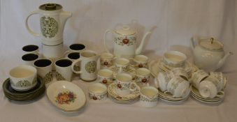 Arklow Tree Of Life half coffee service (chip to cup & saucer) Paragon Fiona part tea service (