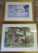 2 framed prints by E Sturgeon both signed in pencil by the artist
