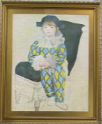 "Framed print ""Paul as harlequin"" after Picasso 54 cm x 65 cm (size including frame)"
