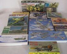 Various model kits inc Frog, Matchbox & Hobby Boss