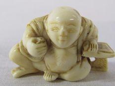 Small Japanese ivory netsuke H 20 mm L 33 mm