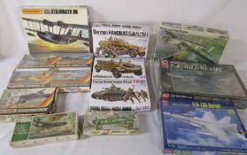 Assorted model kits inc Tamiya, Frog and Matchbox