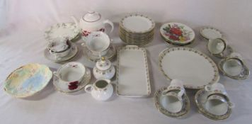 Various plates and tea services inc Tirschenreuth Germany