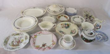 Various plates and part dinner / tea services inc Grindley and Paragon