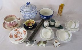 Various ceramics and glassware inc Aynsley, Doulton and Shelley