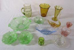 Various glassware inc Australian and Art Deco