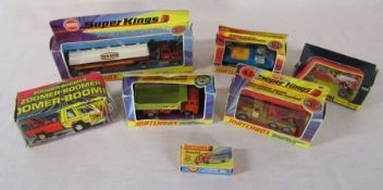 Selection of boxed die cast Matchbox and Corgi cars and lorries