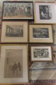 Assorted prints and engravings inc Hands off Sir Wilfred