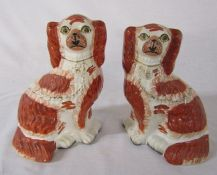 Pair of Staffordshire dogs H 24 cm