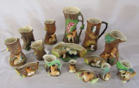 Various Hornsea Fauna and Hornsea Fauna Royal pottery items