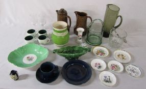 Assorted ceramics and glassware inc Royal Worcester, Spode, Aynsley, Carlton Ware and 1919 Peace