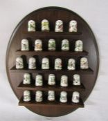 Franklin Mint porcelain limited edition bird thimbles with stand (26)