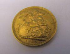 Edward VII full gold sovereign 1903