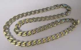 Silver curb chain necklace L 52 cm weight 2 ozt