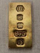 9ct gold ingot weight 21.9g