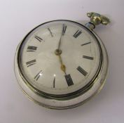 Georgian silver pear cased pocket watch signed Geo Mulgrave London 10997 to movement, hallmarked