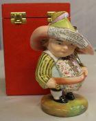 """Royal Crown Derby Mansion House Dwarf, his broad brimmed hat entitled """"Auction of Elegant"""