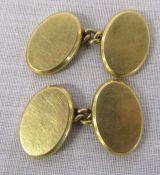 Pair of 18ct gold cufflinks Birmingham hallmark 6.47 g