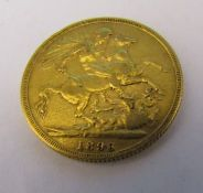 Queen Victoria full gold sovereign 1896