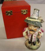 A Sampson Hancock Derby Mansion House Dwarf, with Theatre Royal Haymarket broad brimmed hat,