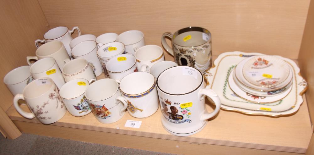 Lot 44 - A Wedgwood Royal commemorative mug, designed by Richard Guyatt, and a collection of Royal