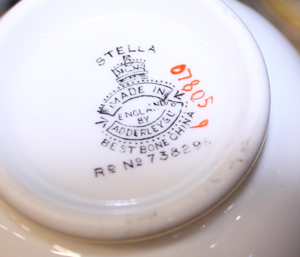 "Lot 29 - An Adderleys Ltd ""Stella"" pattern part tea service, exclusive to Harrods"