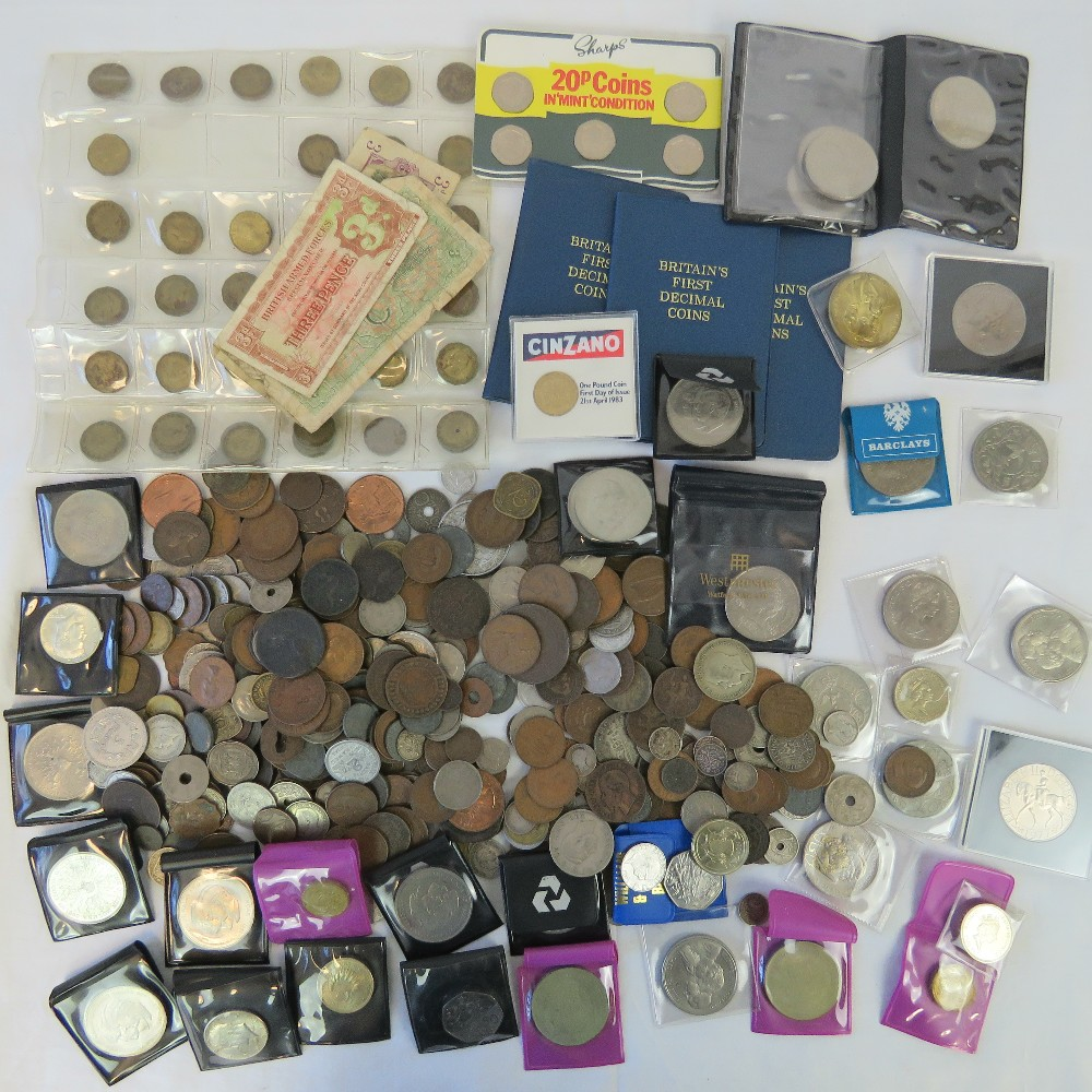 Lot 311 - A quantity of Georgian and later coinage including; nine pre-1920 three pence coins (0.