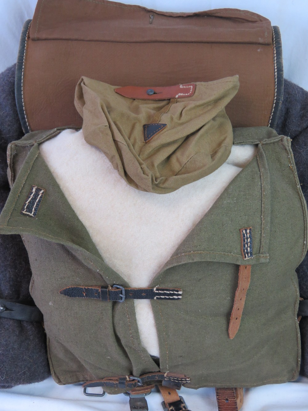 Lot 13 - A WWII German Wehrmacht Infantry Issue Alpine / Mountain Troops Tornister ruck sack/back pack with