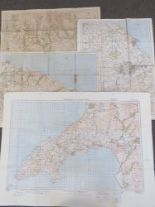 Lot 53 - Four 1940 Revision War Office maps; Portmadoc & Criccieth sheet 49 published 1932,