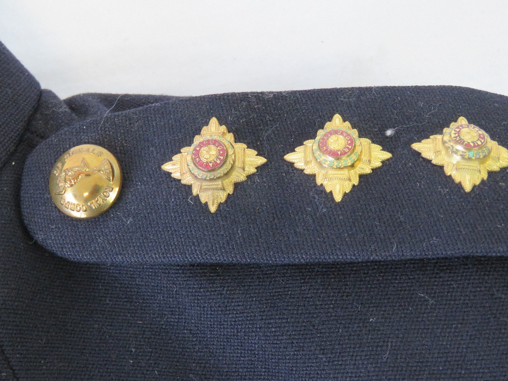 Lot 15 - A British Military Royal Signal Corps Officers dress uniform with original starched collar boards,