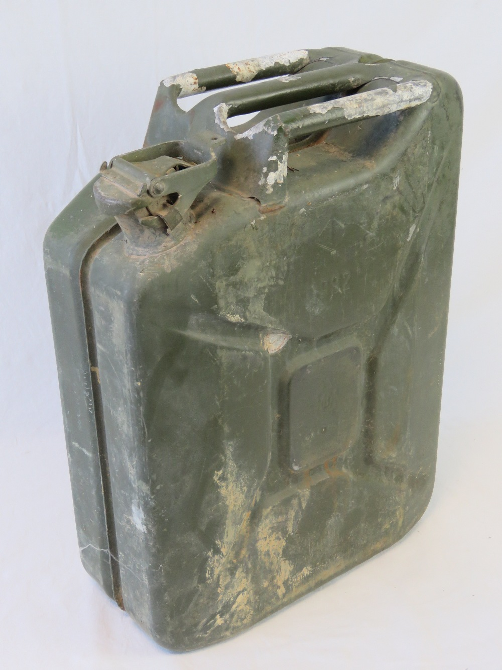 Lot 26 - A vintage military 20L Petrol / Diesel can having broad arrow upon and dated 1992.