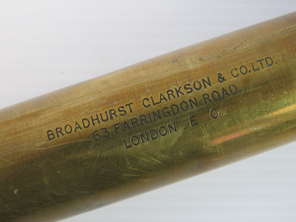 Lot 31 - Two British Military Officers telescopes, either Naval or Artillery use,