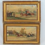 Lot 5 - R Bovens, a pair of horse racing scenes,