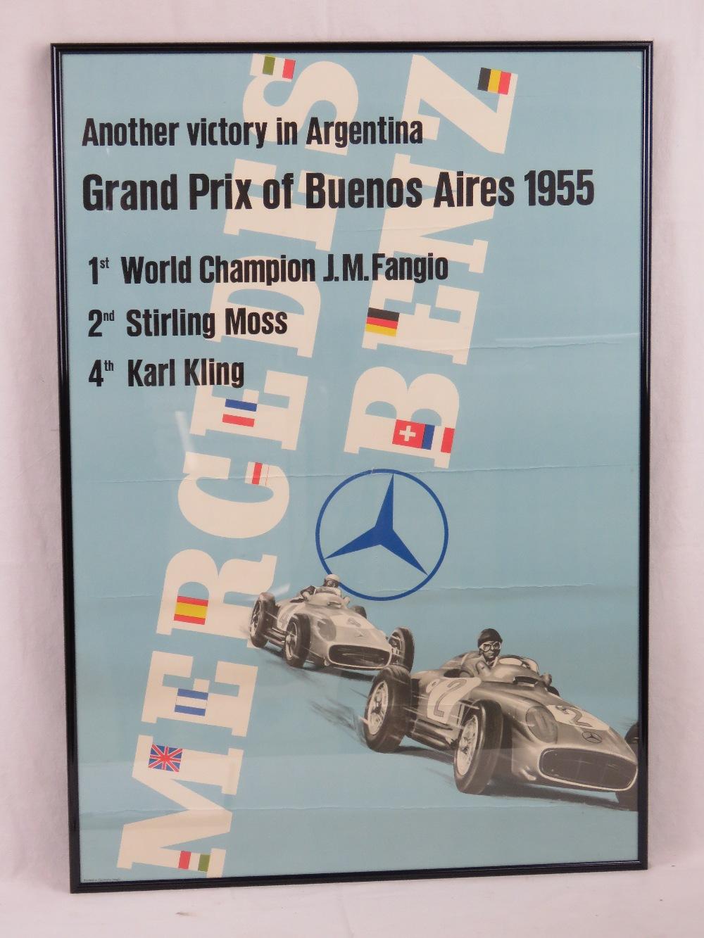 Lot 70 - An original Grand Prix Buenos Aries 1955
