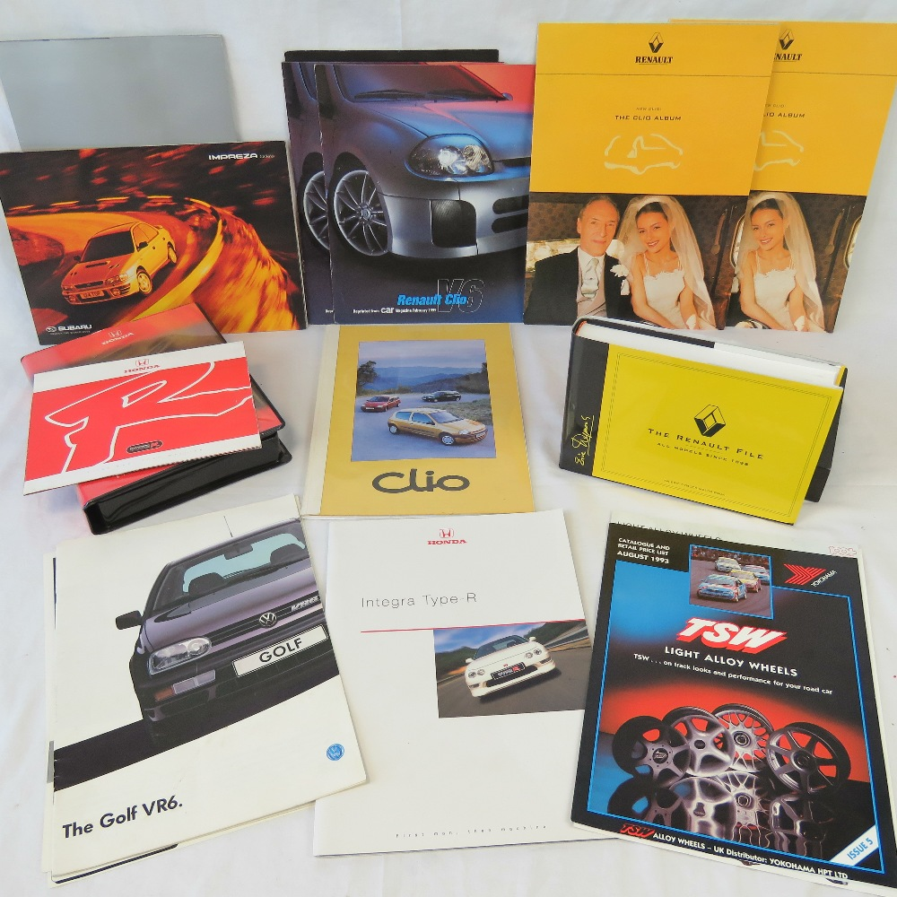 Lot 61 - A collection of Renault, VW, Honda, BMW,