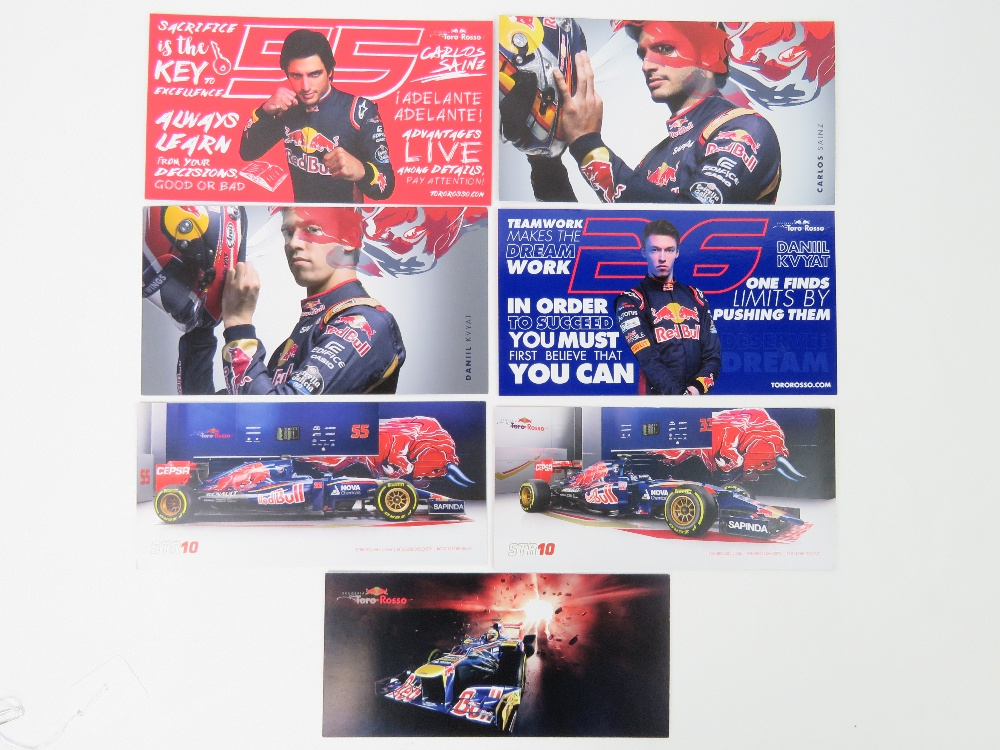 Lot 12 - Seven Turo Rosso signed photocards; Max