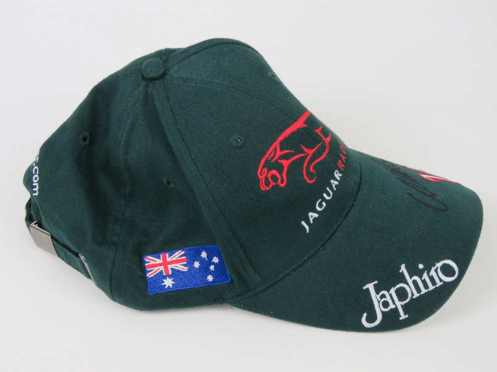 Lot 63 - A single Jaguar Racing cap signed Mark W