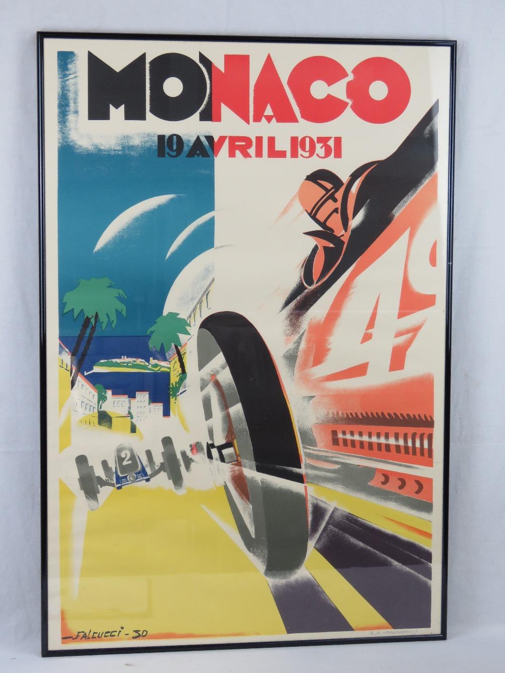 Lot 53 - A restrike 1931 Monaco Grand Prix poster