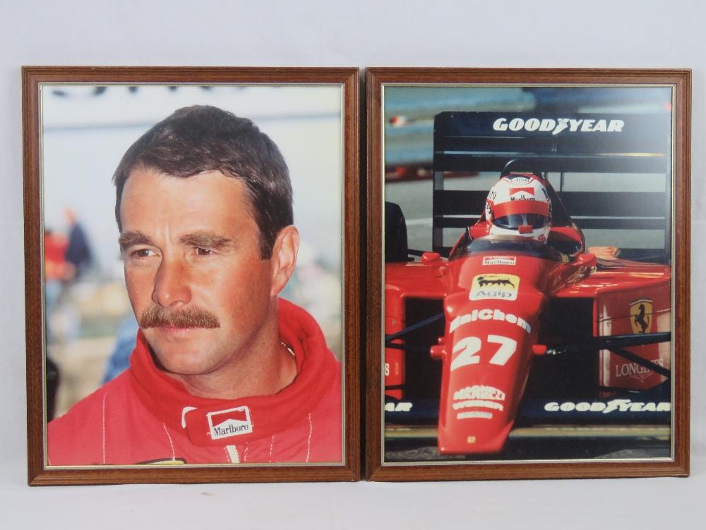 Lot 155 - Two framed Nigel Mansell colour prints,