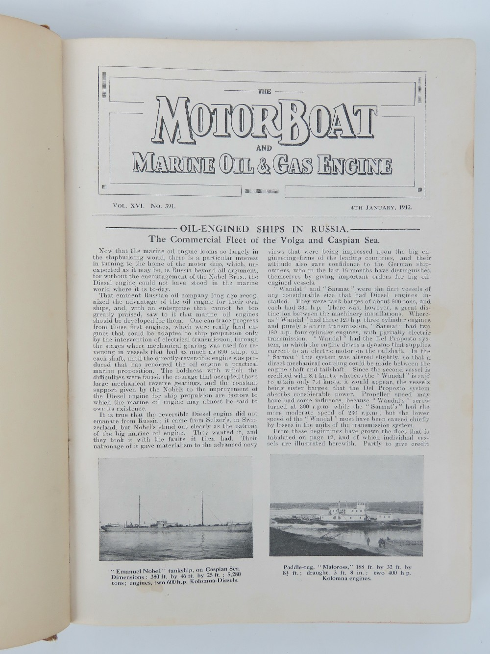 "Lot 3 - ""The Motor Boat"" - An early 20thC bound"