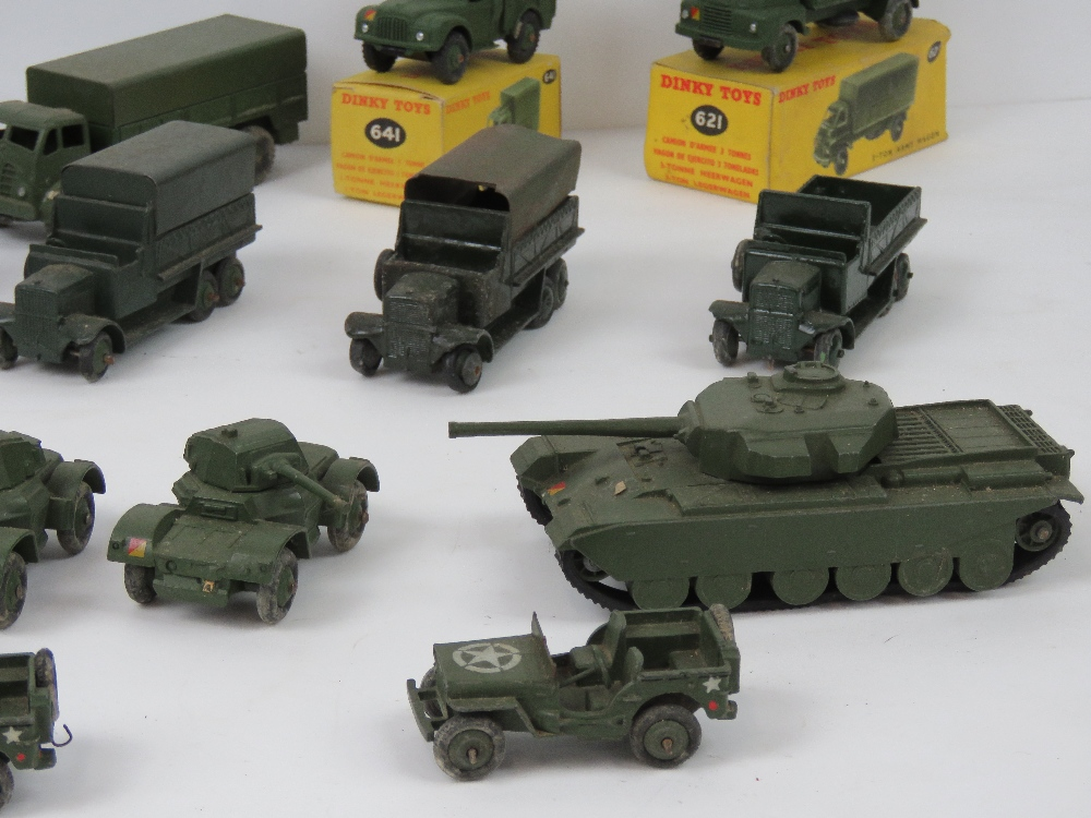 Lot 113 - Dinky Toys - Military Vehicles; A group